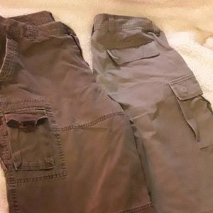 Lot of Two Men's Cargo Shorts